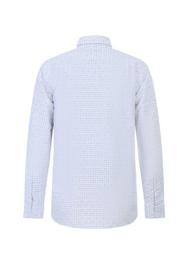 Kiğılı Uzun Kol Regular Fit Kareli Gömlek Lacivert